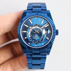 40 millimetri 42mm Ring Command 326935 326939 automatici 9001 del movimento uomini guardare orologio da polso DIW WORLD TIMER GMT WWF MN migliore braccialetto di qualità Waterproo
