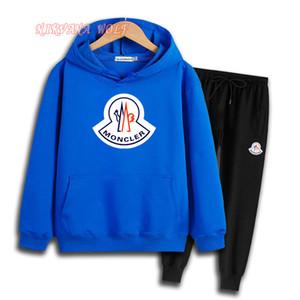 M0NCLER 로고 럭셔리 디자이너 소년 아이 세트 아이 아기 가을 소년 셔츠 스웨터 까마귀 재킷 소년 스포츠 후드 정장 5 색 2-7 톤 크기