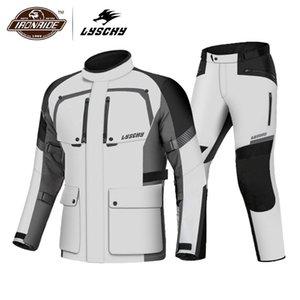 Giacca LYSCHY Moto Moto Giacca impermeabile equitazione Moto Uomini Protezione moto con interno a 4 stagioni