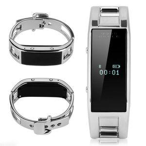 Montre Bluetooth Smart J8 Caméra Fitness Tracker Smart Reminder Bracelet en acier inoxydable pour Android Wearable Wristwatch iPhone Phone