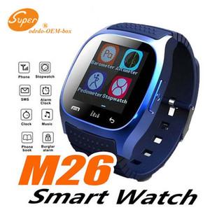 M26 smartwatch Wirelss Bluetooth Akıllı Seyretmek Telefon Bilezik Kamera Uzaktan Kumanda Anti-kayıp alarm IOS Android için Barometre V8 A1 izle