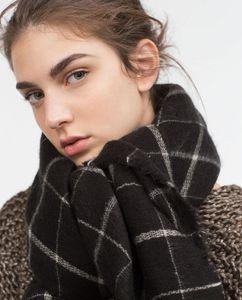 Atacado Moda Cashmere Xale Lenços New Lady Mulheres Homens Blanket Scarf Black White Plaid Cozy verificado Tartan Scarf Wraps Xaile