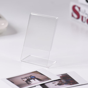 Mini Acrylic Transparent Photo Frame Stand Picture Frames Film Paper Name Card Holder Instax for Desktop Home Decor