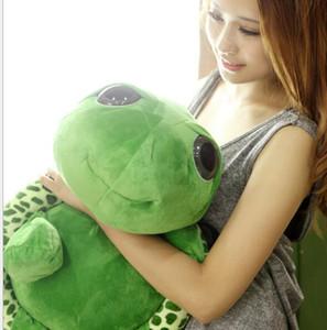 Filmes 18cm Kawaii Super Green Big Eyes Stuffed Tortoise Turtle animal Plush Toy Presente do bebê macia Anime