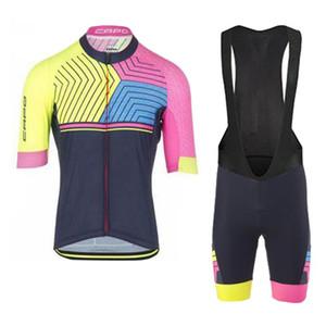 Новый CAPO team дышащий Велоспорт Джерси велосипедная одежда MTB рубашка с коротким рукавом нагрудник шорты комплект UCI World Tour мужчины дорожный велосипед униформа Y062005