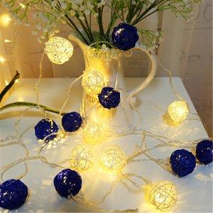 Rotin boule de lumières de fée Lumière Chambre, Rideaux, Patio, Pelouse, Paysage, Jardin féerique, maison, mariage, vacances, Sapin de Noël, Fête