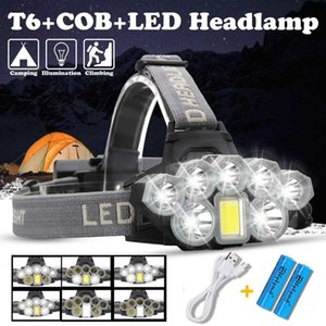 4108 2*T6 + 5LED LED Headlamp 2x 18650 6 files aluminum alloy ABS Camping Hiking Fishing Barbecue Party Car fixing Exploration