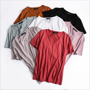 T-Shirt Frauen Plus Size Solide Tops Sommer Lose Shirts Mode Lässig Bluse Sexy Kurzarm Blusas Slim Tees Damenbekleidung L-5XL 5321