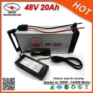 Di alta qualità Li-ion Battery Pack 48V 20Ah elettrico posteriore della bicicletta cremagliera della batteria con 30A BMS in alluminio Case + del caricatore di TRASPORTO