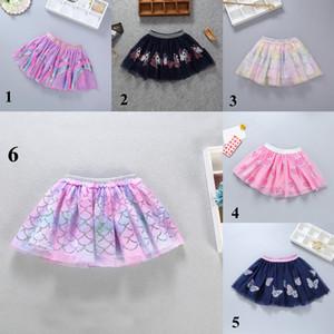 6 Renkler Bebek Kız Mermaid Etek Sequins Unicorn Tutu Elbise INS Karpuz Kelebek Gazlı Bez Etekler Yeni