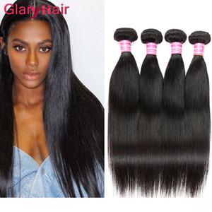 Perulu Bakire Saç Paketi Düz İnsan Saç Uzantıları Toptan Düz Çift Atkı İpeksi Remy Saç Dokuma uk Dh kapıları Color1b Fiyatları