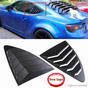2pcs Car Trasero Louver Cuarto de la ventana Plástico negro para Scion Frs para Subaru BRZ para TOYOTA 86 GT86 2013-2018