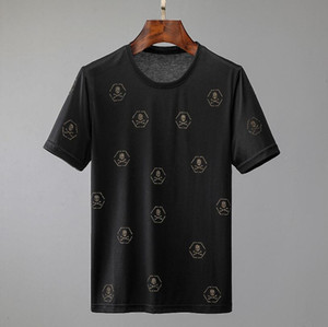 neue Mens Marke Art und Weise Luxus designerT-Shirts Männer-ursprünglicher Entwurf skateboardT-Shirts klassische heißen drill Druck Mercerized Baumwoll-T-Shirts