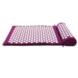 Massager Cushion Lotus Acupressure Yoga Mat Relieve Back Body Pain Spike Head Neck Foot Needle Mat with Pillow