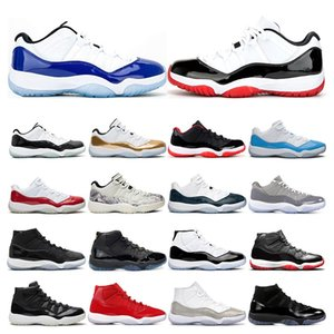 Stock X mens trainers 11s basketball shoes CONCORD White Bred Legend blue Gamma blue cool grey womens sports sneakers outdoor fashion