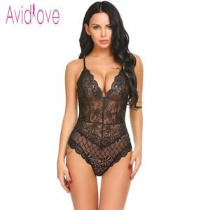 Avidlove New Lady Lingerie Sexy Hot Erotic Teddy Bodysuit Women Lace Spaghetti Strap Chemise Underwear Langeri Porn Sex Costumes LY191222