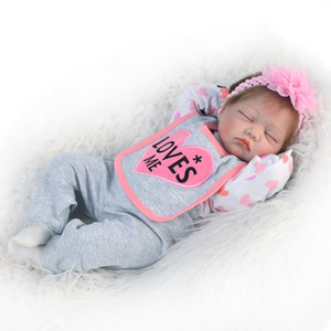 "KEIUMI Silicone Reborn Baby Dolls With Cloth Body 22 "" 55 CM Bebe Reborn Toddler Boneca lol Kids Playmate Surprise gift Y191207"