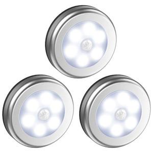 Dolap Dolap Sensörü Işık 6 LED Işık Powered Kablosuz Gece Lambası Banyo Bodrum Garaj Işık Pil Hareket algılamalı