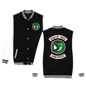 Riverdale Southside Ceket Sokak Rüzgar Yılan Beyzbol Erkekler Hoodie Ceket Moda Spor Erkek Ceket Üniforma 4XL XXS