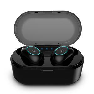 L18 Tws Auricular Inalámbrico Bluetooth 5.0 Auriculares Deportes Manos libres Auriculares Gaming Headset Teléfono 500mAh Cargador Estuche Ti8s con micrófono