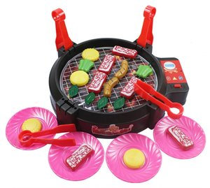 Neue Ankunft Simulation BBQ Küche Spielzeug Elektronische Sound Grill Spielen Lebensmittel Sets Spielzeug Familie Eltern-Kind Interaktive Kinder Kochen Spielzeug