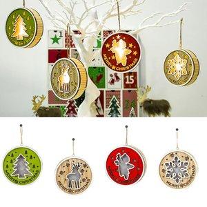Merry Christmas Ahşap Süsler Noel Süsleri Ev Ağacı Natal Noel Angel kar tanesi kolye Noel Mutlu yeni yıl için