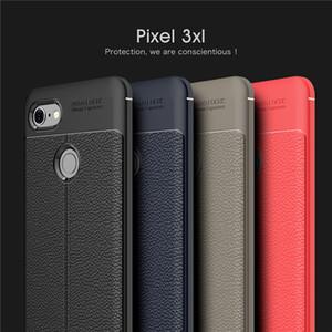 A prueba de golpes caso de TPU teléfono para Google Pixel 4XL 3XL 3 4 Caso de silicona suave Litchi Para Google Pixel 3AXL 3A 2XL 2
