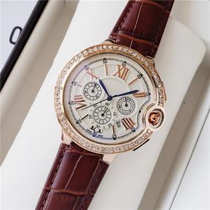 mens moda di lusso di alta qualità run serie piccolo ago secondi 2020 nuovo top di marca blu palloncino sei punti orologi Set orologio coclea