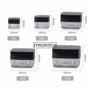 حاوية مستحضرات التجميل 5g 10g 15g 30g 50g مربع المكعب Acrylic Jar Clear كريم Pot ماكياج عينة علبة التعبئة F20172119