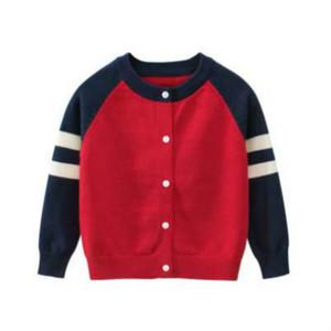 Enfants de luxe Pull d'enfants en tricot Cardiga Garçons Filles solide Couleur Vêtements pour enfants Casual Tops 2020 Automne Enfants Clothings Top Quanlity