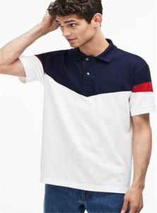 Designer Polos Lapel cou à manches courtes rayé imprimé Hommes Polos T-shirts Casual Adolescent Crocodile Hommes