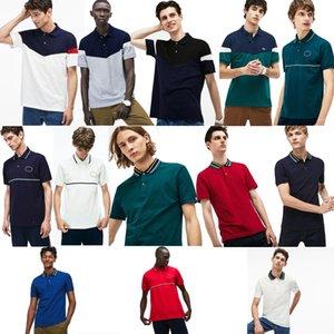 남성 디자이너 폴로 셔츠 100 % 코튼 브랜드 악어 폴로 셔츠 남성 패션 여름 짧은 소매 폴로 셔츠 캐주얼 남성 POLOS TOPS