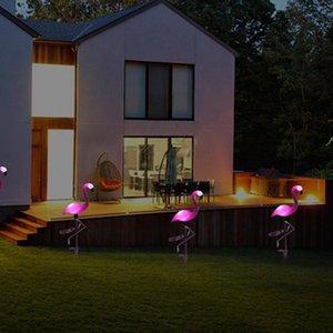 LED Garden Light Simulé Flamingo pelouse Lampe solaire étanche Led extérieur pour éclairage de jardin Décoration