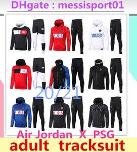 21분의 2,020 Jordam X PSG 파리 자켓 까마귀 Survetement 2020 2021 파리 PSG MBAPPE 축구는 POGBA 축구 까마귀 운동복 자켓