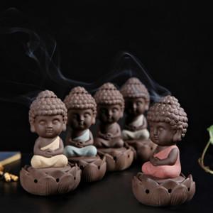 Ceramic Buddha statue Incense burner stove sandalwood Home Decor coil budda ornaments buddhist bunner COLIFE modern sculptures T200619