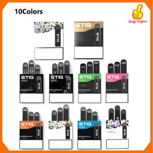 100% original VGOD STIG desechables 10 colores Vaciar Pod Dispositivo paquete 3pcs batería 270mAh 1,2 ml Cartucho de Vape Pen Kit vs barras de hojaldre