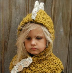 Fashion-2019 dinozor Beanie Şapka çocuk ve çocuklar için kaba yün Kış Şapka Bonnet Tasarımcı Cc Beanies Marka Mens Womens Kafatası Kap 54-56 cm