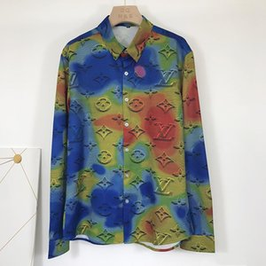 Top men designer silk cotton loose shirt luxury