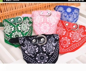 A Wholesale Dog Puppy Triangle Bandana Lovely Pet Dog Scarf Collar Adjustable Top Quality Pet Cat Tie Collar Christmas Pet Supplie