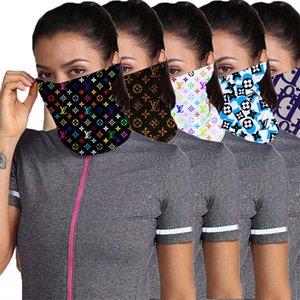 Luxo Designer metade do rosto Máscara Máscaras Anti Poeira Scarf Mulheres Cycling Bandanas de secagem rápida Mask presentes Headband Sports Chefe Lenços lavável cara