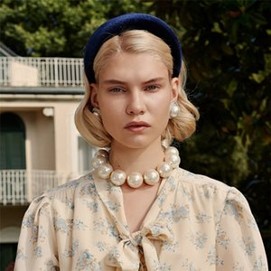 Твердая Spong Галстуки для женщин девушки плюша Hairbands волос Обруч Дамы ободок Европы и Америки Аксессуары для волос