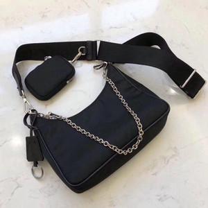 Prada Deisigner borsa a tracolla per donne pacco petto signora Tote catene borse presbiti borse del progettista del sacchetto del messaggero tela borsa all'ingrosso