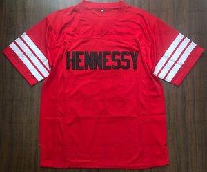 Prodigy # 95 Hennessy Queens envío Puente de la película de fútbol jersey rojo Todo cosido rojo S-3XL de alta calidad