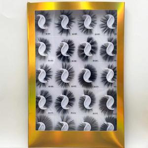 ups gratuitos / FedEx Atacado 9D 20 pares sintética 25mm private label falso vison livro falso cílios embalagem luxry Maquiagem artesanal Ferramenta