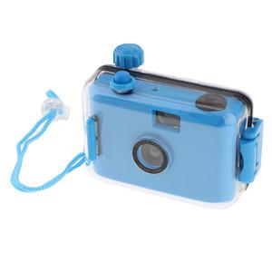 تحت الماء للماء ومو كاميرا صغيرة لطيف فيلم 35mm مع حالة السكن الأزرق