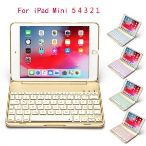 Para el iPad Mini 5 4 7.9inch de aluminio de luz de fondo Keyboad nuevo inalámbricas para el mini iPad 1 2 3 4 7.9 Bluetooth teclado inteligente aleación de metal cubierta de la caja