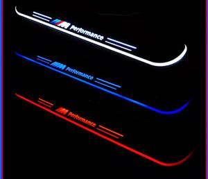 BMW F10 F18 아크릴 LED 이동에 오신 것을 환영합니다 페달 자동차 스커프 플레이트 페달 문 창턱 통로 빛