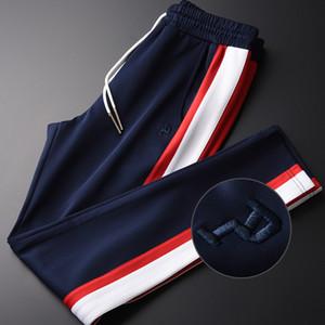 Minglu Contrast Color Pantalones Hombre Más Tamaño 4xl Lujo Tela Suave Primavera Hombres Pantalones Casuales Hight Quality Slim Fit Pantalones para hombre