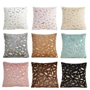 Coussin décoratif couverture en fourrure plumes Accueil peluche Taie d'oreiller décoratif Coussin Seat Cover Canapé-lit Décoration Pillowcases