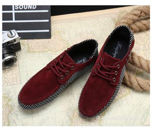 Foreign Trade Size Korean Sports Casual Shoes Fashion Bean Men &#039 ;S Ow Help Young Men &#039 ;S Wholesale